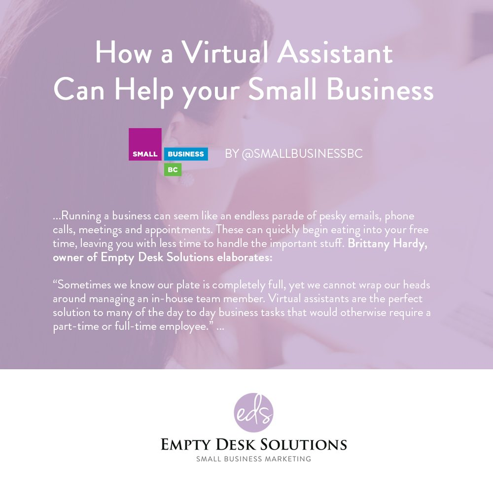 How a Virtual Assistant Can Help your Small Business from @SmallBusinessBC