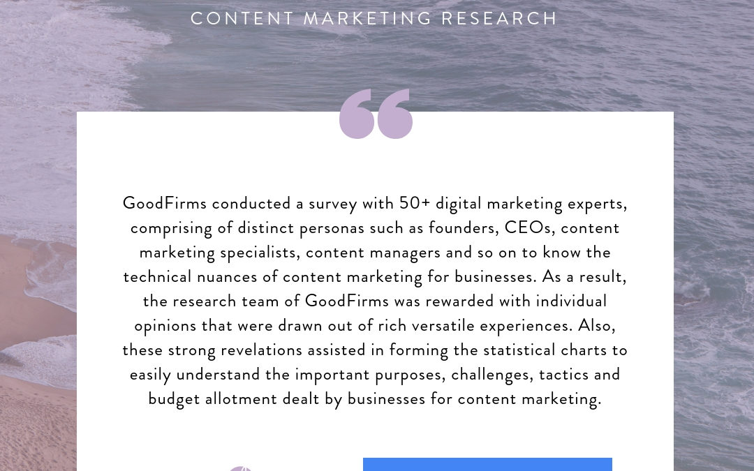 Content Marketing Research from Goodfirms – October 2018