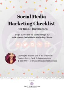 DIY All-Inclusive Social Media Checklist for Small Business Owners