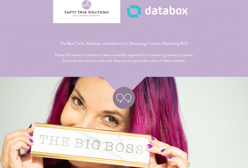 The Best Tools, Methods, and Metrics for Measuring Content Marketing ROI – Brittany on Databox