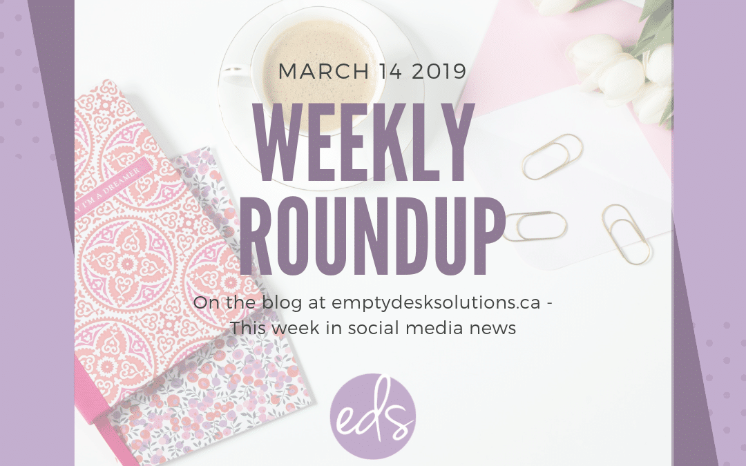 Weekly Round Up: Top 10 Things in Social Media – March 14