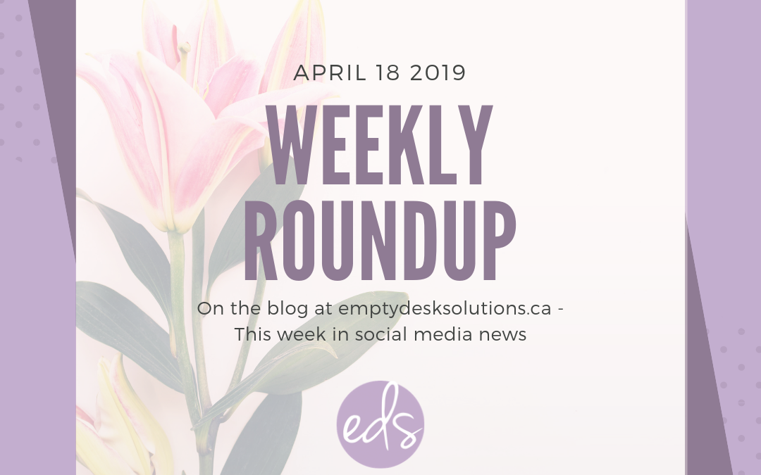 Weekly Round Up: Top 10 Things In Social Media This Week – April 18