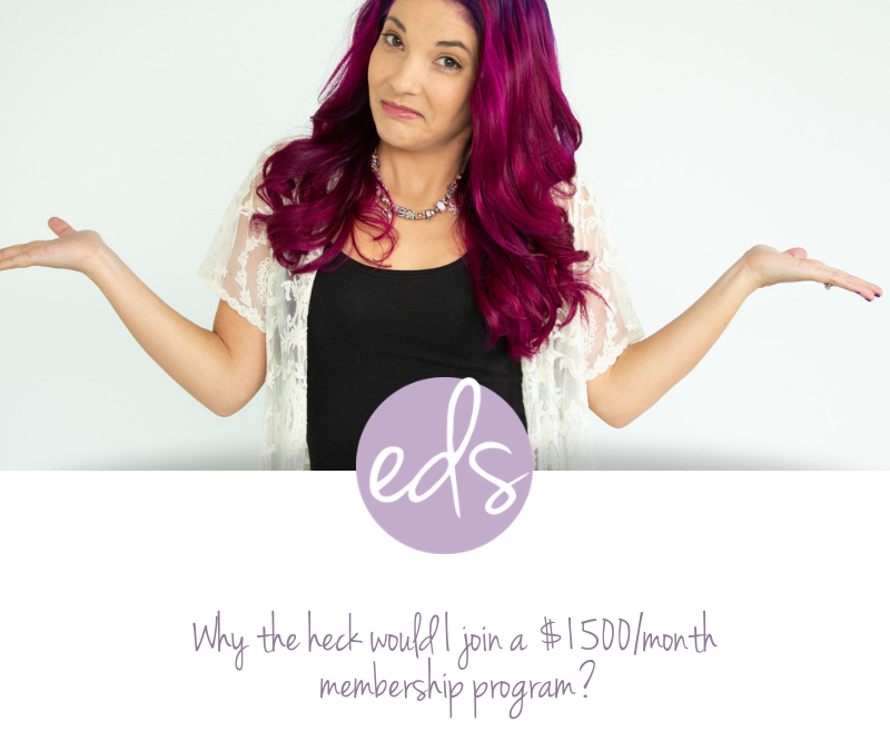 Why the heck would I join a $1500/month membership program?