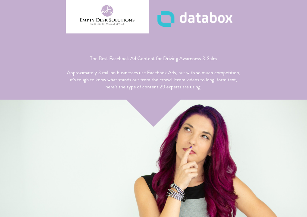 The Best Facebook Ad Content for Driving Awareness & Sales – Brittany on Databox