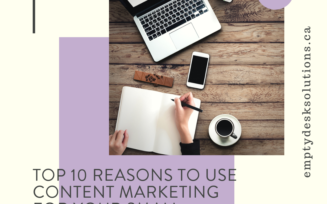 Top 10 Reasons To Use Content Marketing For Your Small Business Or Nonprofit