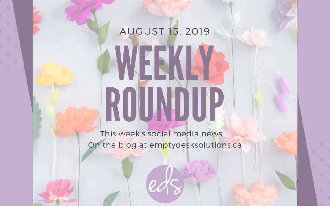Weekly Round Up – August 15