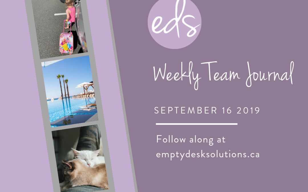 EDS Team Journal – Week of September 16, 2019
