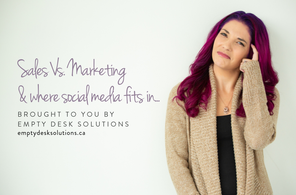 Sales vs. marketing, and where social media fits in