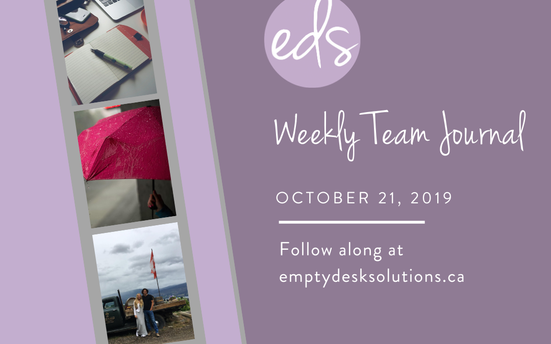 EDS Team Journal – Week of October 21, 2019