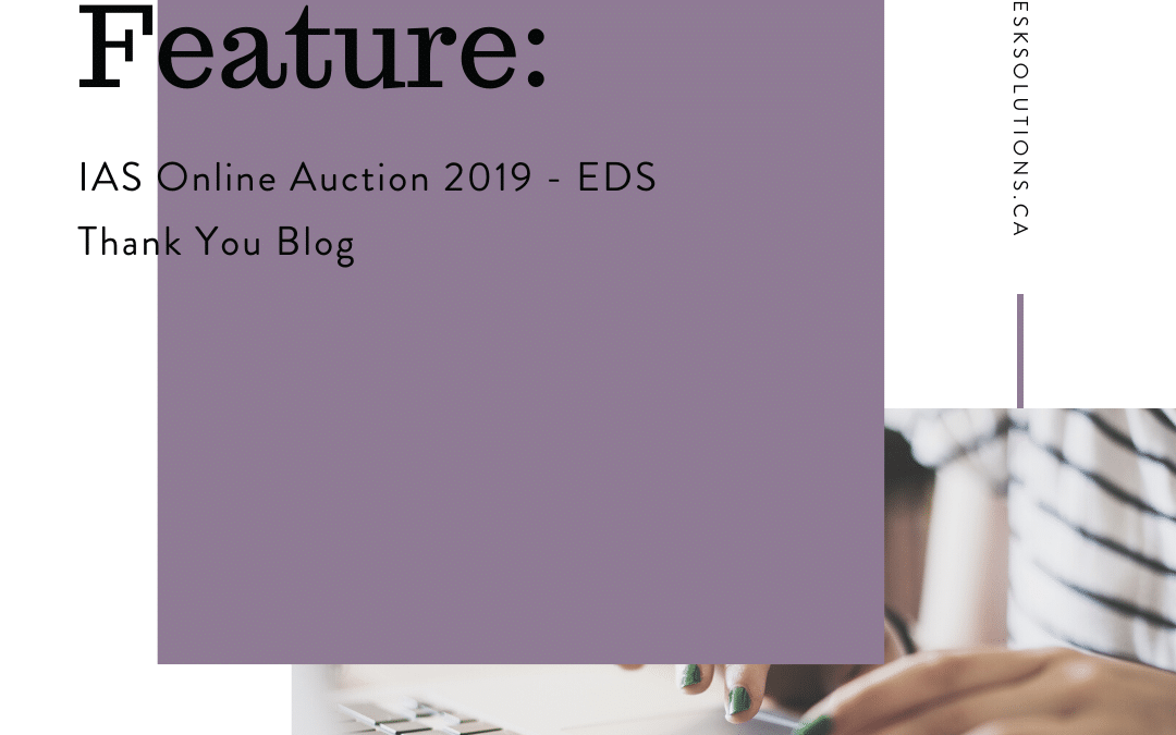 IAS Online Auction 2019 – Thank You Blog