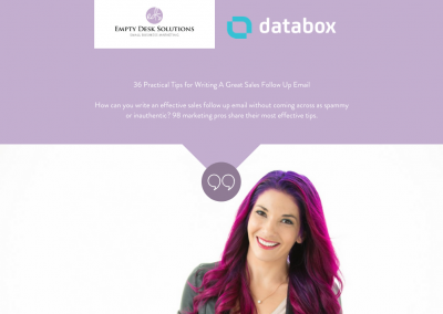 36 Practical Tips for Writing A Great Sales Follow Up Email – Brittany on Databox